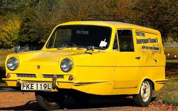 The Reliant Regal van from Only Fools and Horses